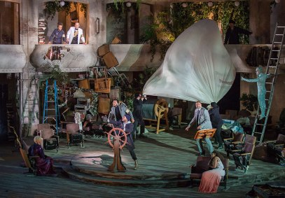 The cast of The Tempest, by William Shakespeare, runs June 17 – July 22, 2018 at The Old Globe. Photo by Jim Cox.