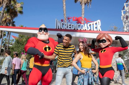 INCREDICOASTER AT PIXAR PIER (ANAHEIM, Calif.) ñ The thrilling Incredicoaster opens June 23, 2018 at Disney California Adventure Park, bringing guests the first ride-through attraction in the world to feature characters from DisneyïPixarís ìThe Incredibles.î Anchoring Pixar Pier, the Incredicoaster takes guests on a super adventure with the Parr family to capture the elusive baby Jack-Jack. Exciting character figures, special effects, lighting, new music and distinctively colored vehicles make the thrills on this coaster even more incredible. (Joshua Sudock/Disneyland Resort)