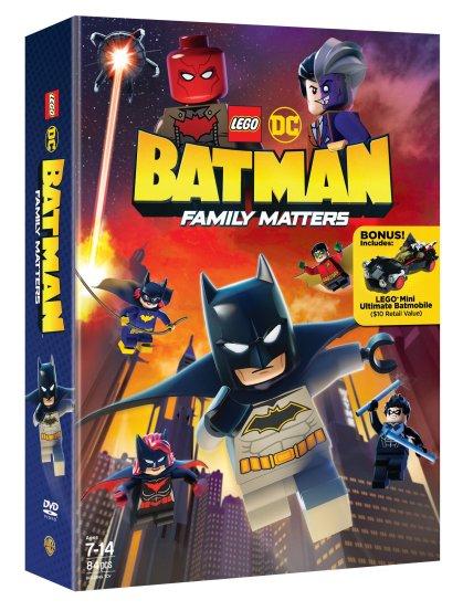 LEGO DC Batman Family Matters DVD 3D